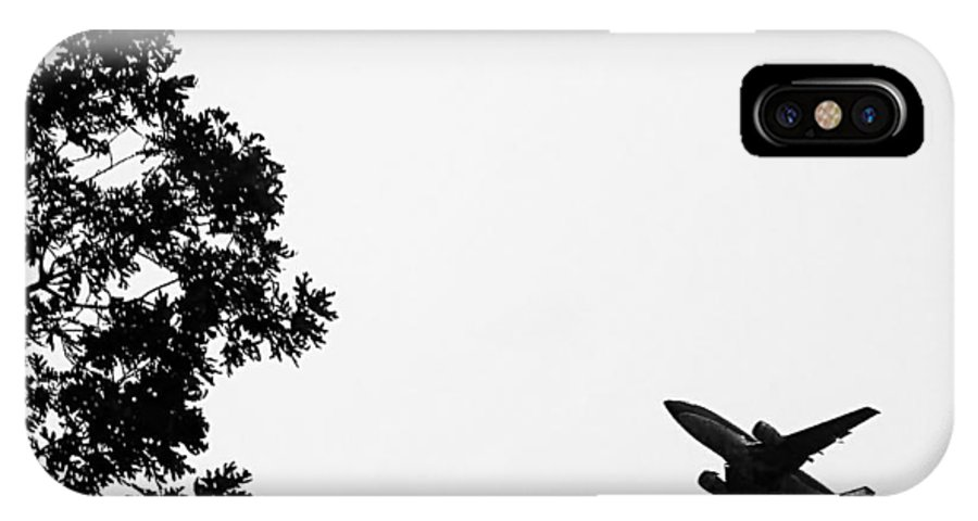 2d IPhone X Case featuring the photograph Leafing On A Jet Plane by Brian Wallace