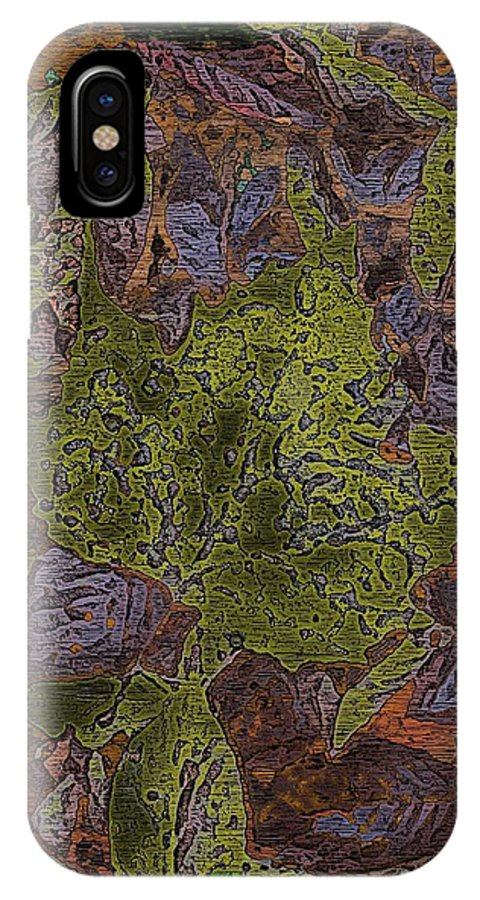 Leaves IPhone X Case featuring the digital art Leafy Goodness by Tim Allen