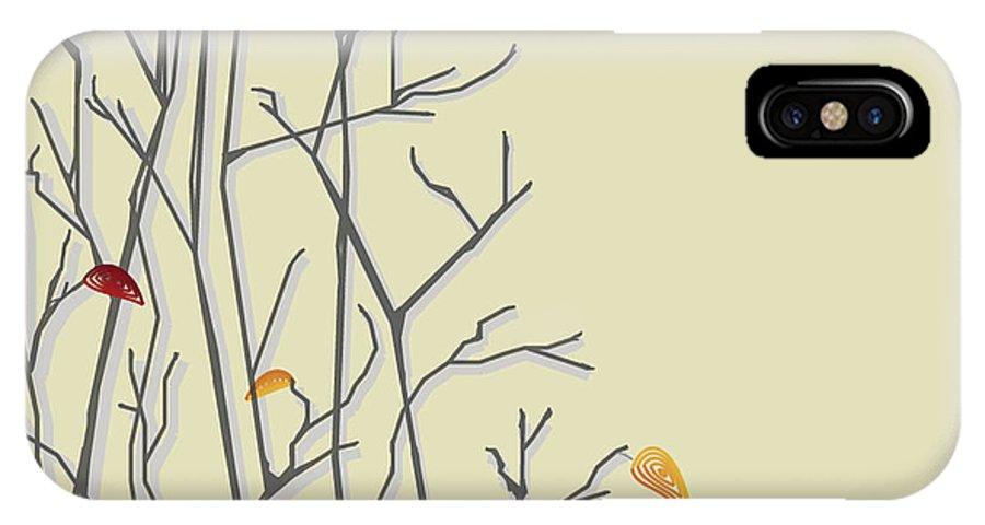 Leaves IPhone X Case featuring the digital art Leavin by Hannah Breidenbach