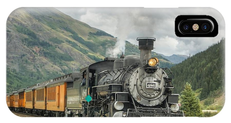 Steam Train Photographs IPhone X Case featuring the photograph Leaving Now by Ken Smith