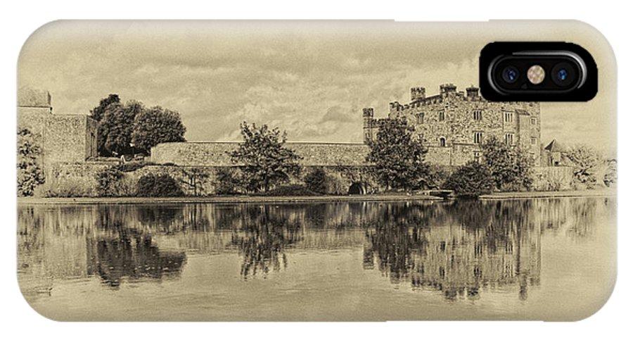 Nostalgic IPhone X Case featuring the photograph Leeds Castle Nostalgic by Chris Thaxter