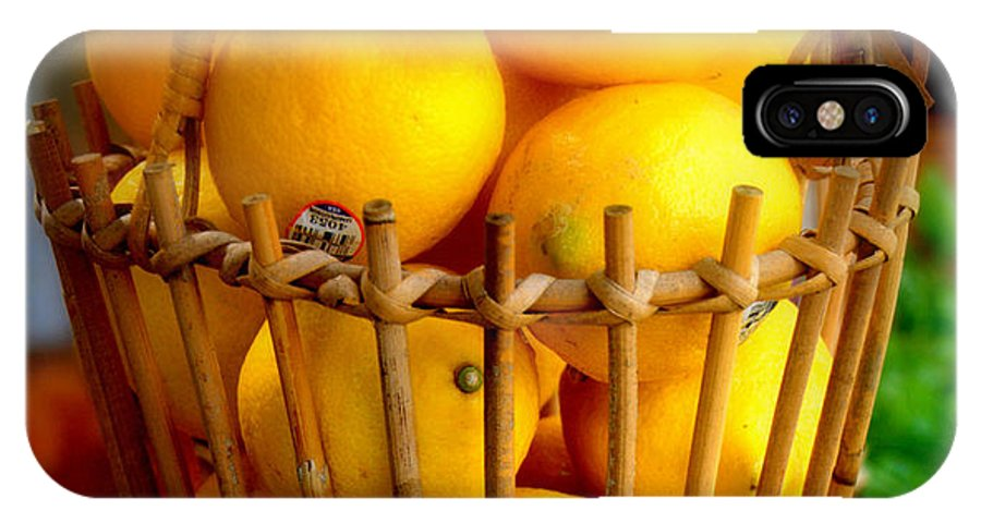 Lemons IPhone X Case featuring the photograph Lemonade by Caroline Stella