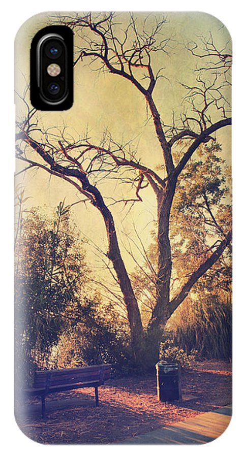 Parks IPhone X Case featuring the photograph Let Us Sit Side By Side by Laurie Search