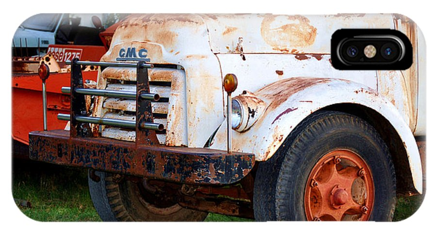 Truck IPhone X Case featuring the photograph Let's Go To Work by Anjanette Douglas