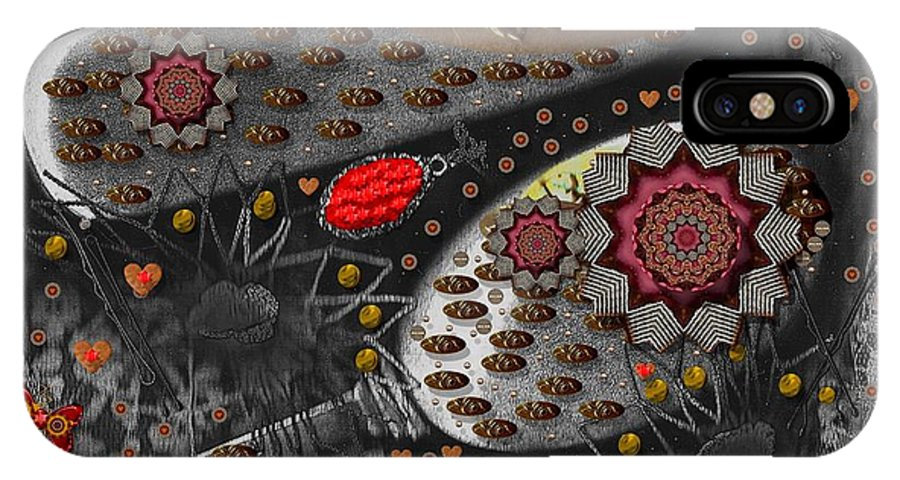 Combs IPhone X Case featuring the mixed media Liberation And Cookies by Pepita Selles