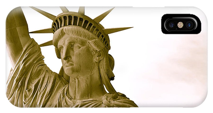 Statue Of Liberty Close Up New York IPhone X Case featuring the photograph Liberty Up Close by Alice Gipson
