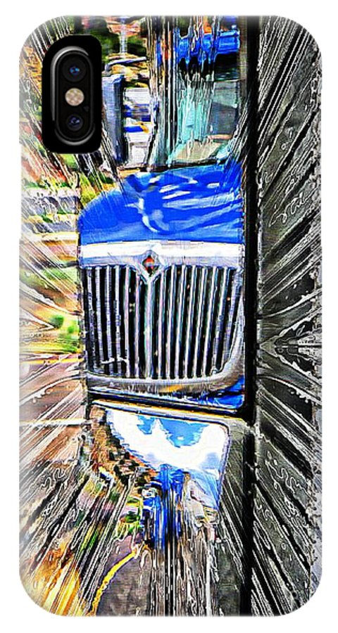 Semitruck IPhone X Case featuring the photograph Life Is A Highway by Michelle Frizzell-Thompson