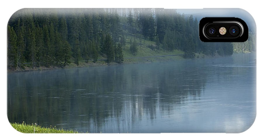 Bronstein IPhone X Case featuring the photograph Lifting Fog On The Yellowstone by Sandra Bronstein