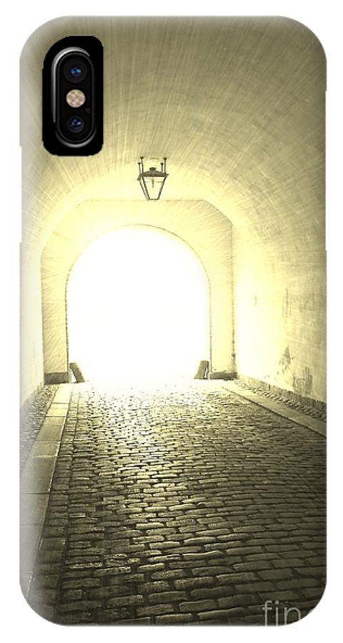 Tunnel IPhone X Case featuring the photograph Light At The End Of The Tunnel by Sophie Vigneault