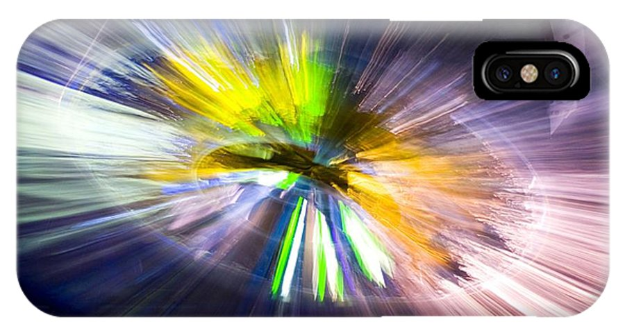 Art IPhone X Case featuring the photograph Light Explosion Concept by Mark Williamson