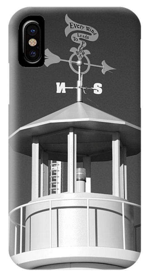 Brooklyn IPhone X Case featuring the photograph Light House On Coney Island In Black And White by Rob Hans
