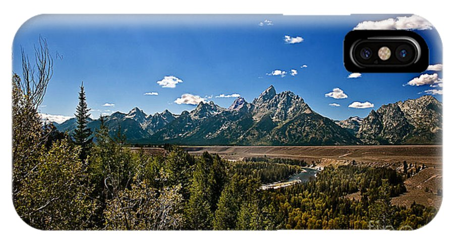 Grand Tetons IPhone X Case featuring the photograph Light Rays On The Grand Tetons by Robert Bales