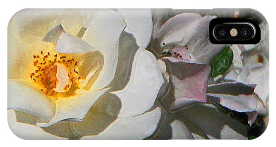 Roses IPhone X Case featuring the photograph Light The Way by Daniele Smith
