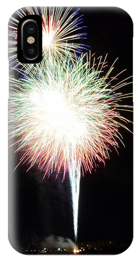 Fireworks IPhone X Case featuring the photograph Light Up The Night by David Morefield