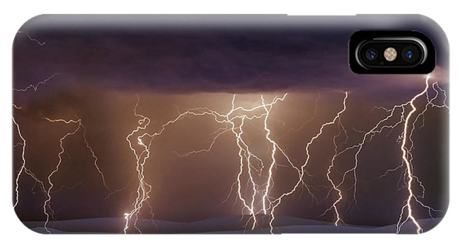 Lightning IPhone X Case featuring the photograph Lightning Dance by Jack Daulton