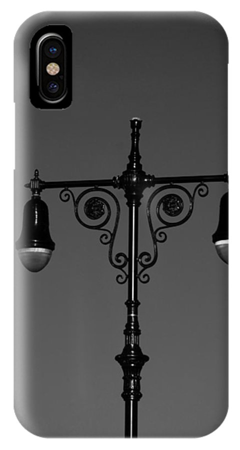 Brooklyn IPhone X Case featuring the photograph Lights Of Coney Island In Black And White by Rob Hans