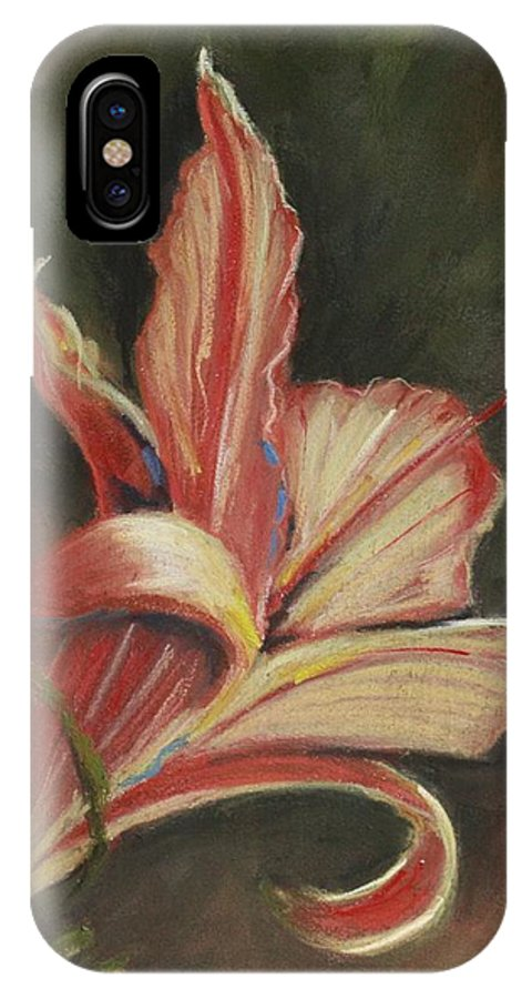 Lily IPhone X / XS Case featuring the pastel Lily by Kathleen Hartman