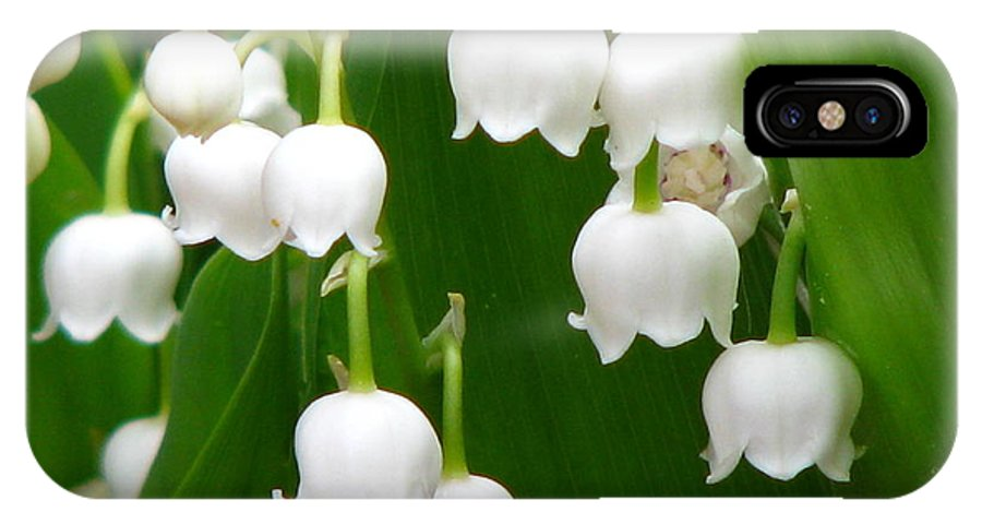 Flower IPhone X Case featuring the photograph Lily Of The Valley by Paul Slebodnick
