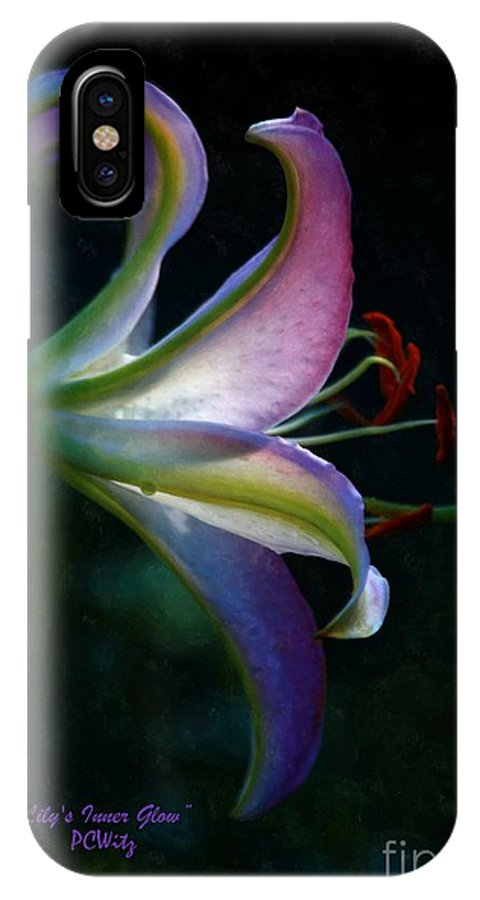 Lily IPhone X / XS Case featuring the photograph Lily's Inner Glow by Patrick Witz