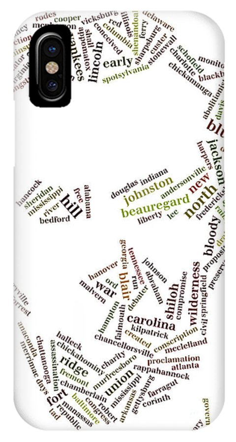 Abraham Lincoln IPhone X Case featuring the photograph Lincoln As Word Cloud by David Bearden