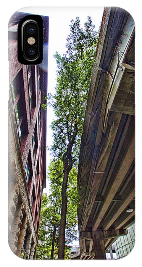 City IPhone X Case featuring the photograph Lines And Trees by Karen Ulvestad