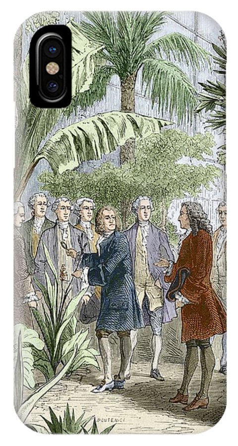 Carl Linnaeus IPhone X / XS Case featuring the photograph Linnaeus And De Jussieu, Botanists by Sheila Terry