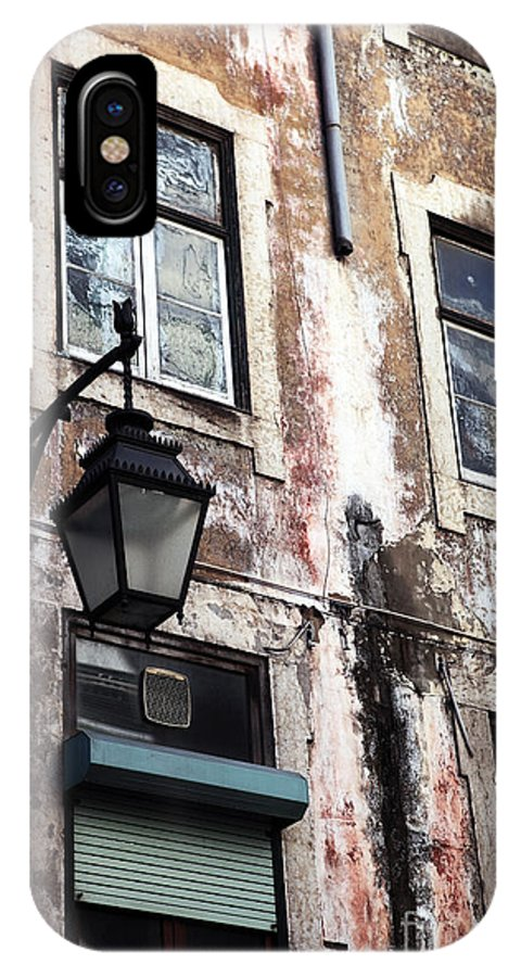 Alfama IPhone X / XS Case featuring the photograph Lisbon Windows by John Rizzuto