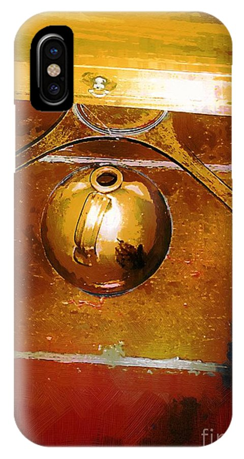 Americana IPhone X Case featuring the painting Little Brown Jug by RC DeWinter