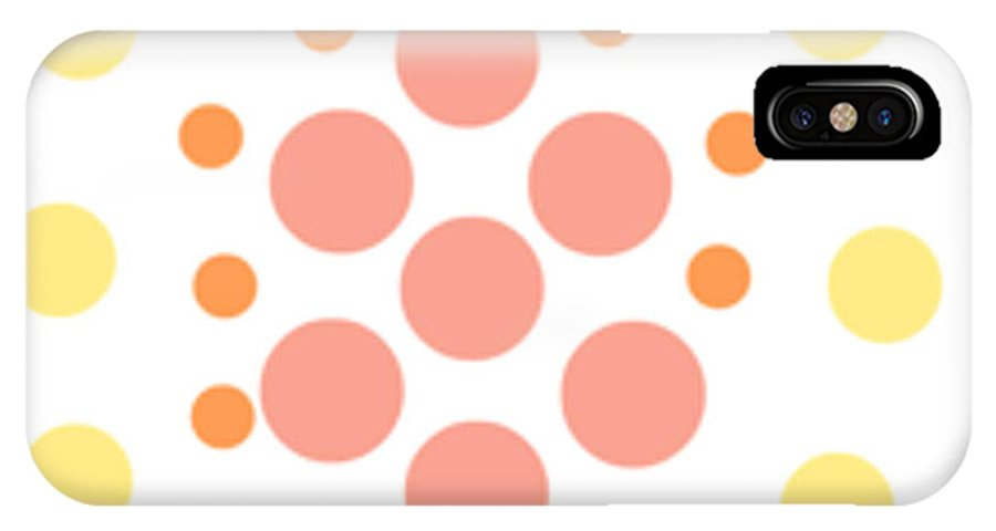 Simple Designs IPhone X / XS Case featuring the digital art Live Wallpaper by Naomi Jacobs