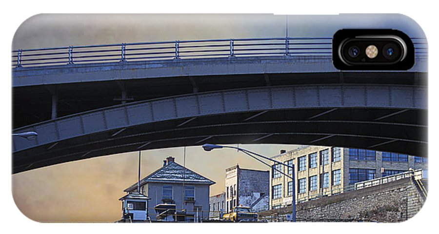 Eric Canal IPhone X Case featuring the photograph Lockport Stroll by Gabe Palmer