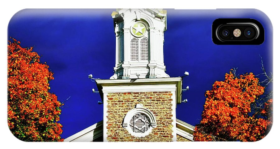 Logan Utah Lds Tabernacle IPhone X Case featuring the digital art Logan Utah Lds Tabernacle by Gary Baird