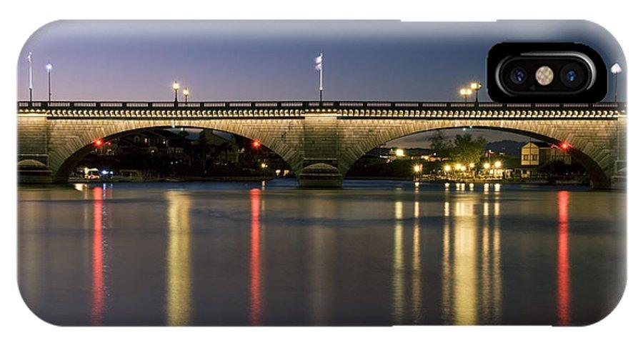 America IPhone X Case featuring the photograph London Bridge At Dusk by Gloria & Richard Maschmeyer