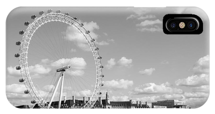 Dawn Oconnor Dawnoconnorphotos@gmail.com IPhone X Case featuring the photograph London Eye And County Hall by Dawn OConnor