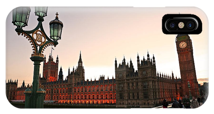 Architecture IPhone X Case featuring the photograph London by Luciano Mortula