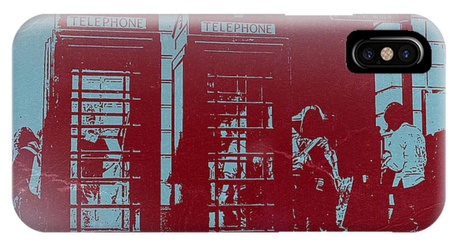 London Telephone Booth IPhone X Case featuring the photograph London Telephone Booth by Naxart Studio
