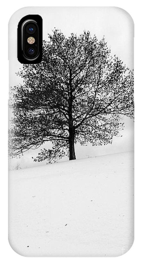 Winter IPhone X Case featuring the photograph Lone tree by David Bearden
