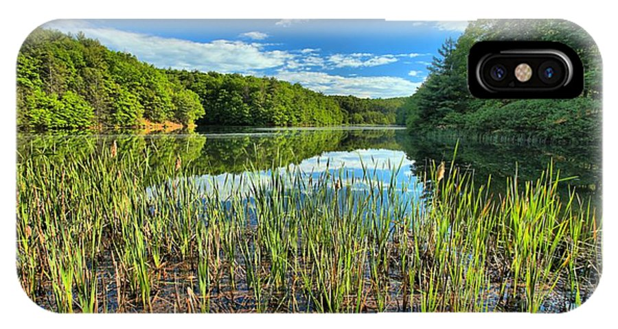 Long Branch Lake IPhone X Case featuring the photograph Long Branch Lake Marsh by Adam Jewell