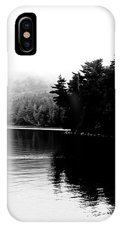 Black White Image IPhone X Case featuring the photograph Long Pond Reflections by Lizi Beard-Ward