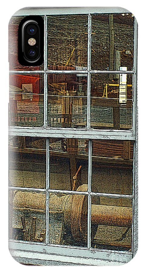 Window IPhone X Case featuring the photograph Looking Through The Window by Dawn Harris