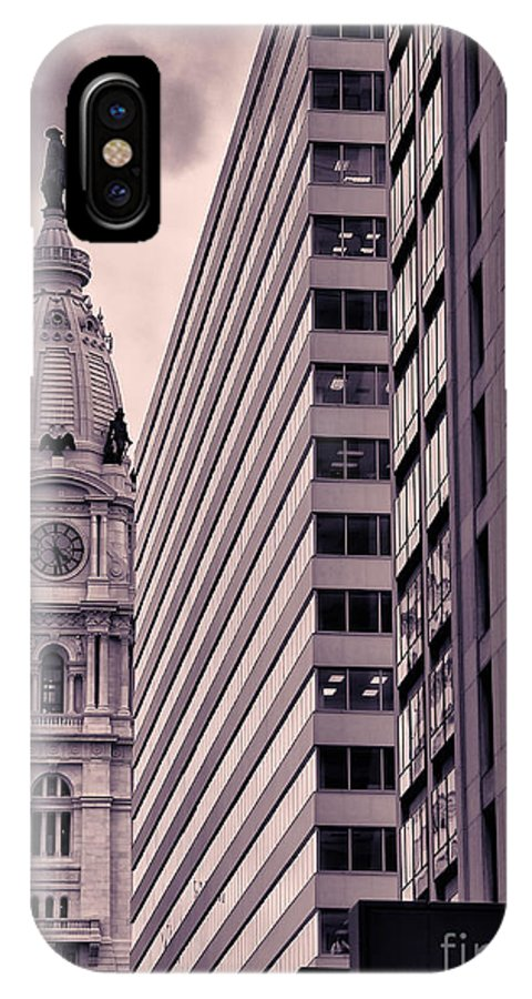 Philadelphia IPhone X / XS Case featuring the photograph Looking Up In Philadelphia 7 by Jack Paolini