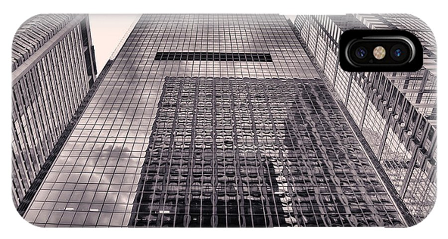 Philadelphia IPhone X / XS Case featuring the photograph Looking Up Philadelphia 5 by Jack Paolini