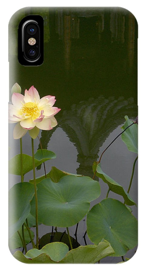 Lotus IPhone X Case featuring the photograph Lotus 2 by Catherine Helmick
