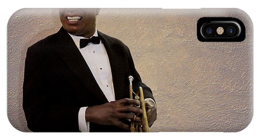 Louis Armstrong IPhone X Case featuring the photograph Louis Armstrong by David Dehner