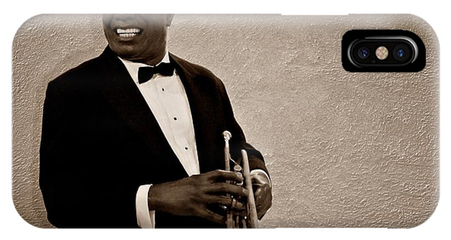 Louis Armstrong IPhone X Case featuring the photograph Louis Armstrong S by David Dehner