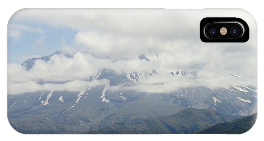 Photos Of Mt St Helens Photographs IPhone X Case featuring the photograph Louwala-clough by Christy Leigh