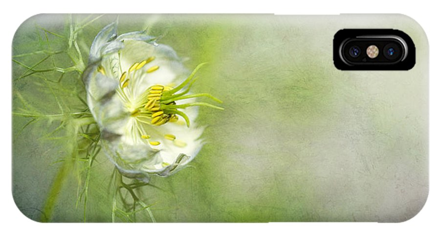 Flower IPhone X Case featuring the photograph Love In A Mist Floral by Susan Gary
