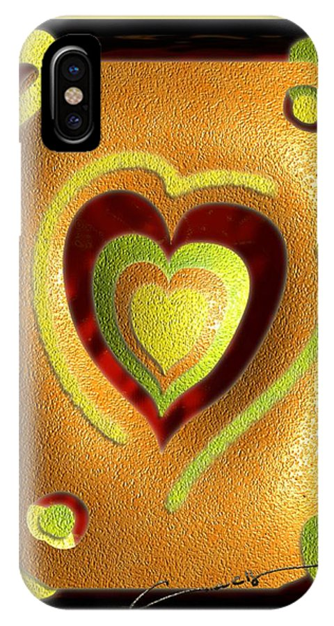 Love IPhone X Case featuring the digital art Love Of Fruit And Jello by Michael Hurwitz