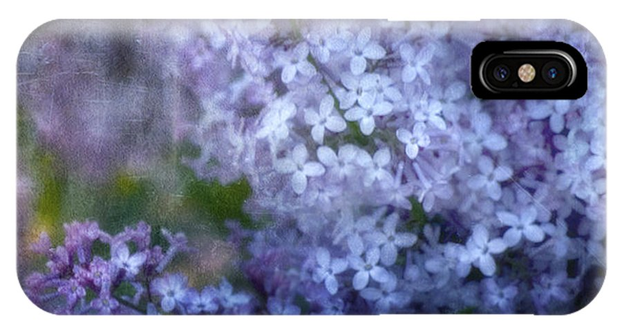 Lilac IPhone X Case featuring the photograph Lovely Lilac by Ellen Heaverlo