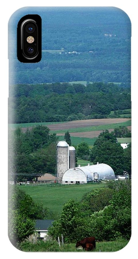 Farm IPhone X Case featuring the photograph Lowville Ny by Dennis Comins