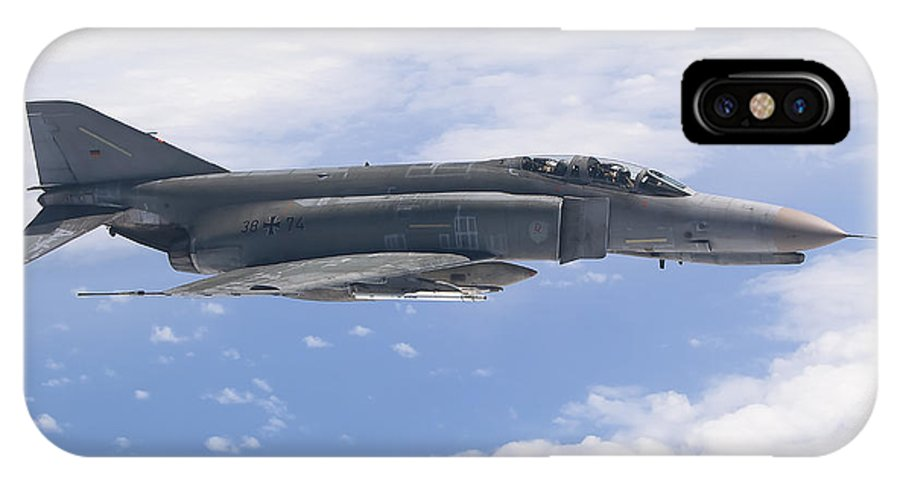 Germany IPhone X Case featuring the photograph Lufwaffe F-4f Phantom by Gert Kromhout